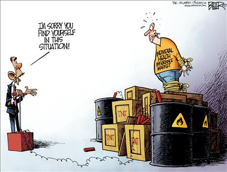 Obamacare TNT Cartoon