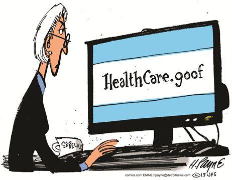 Obamacare Website Goof Cartoon