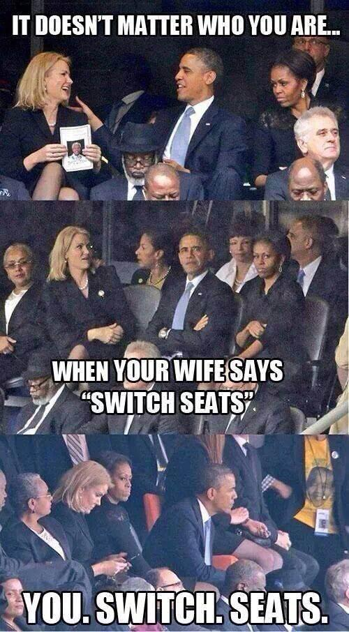 Obama Switch Seats