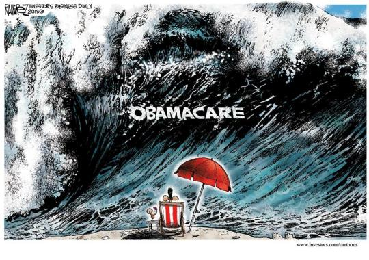 Image result for cartoons obamacare failing disaster