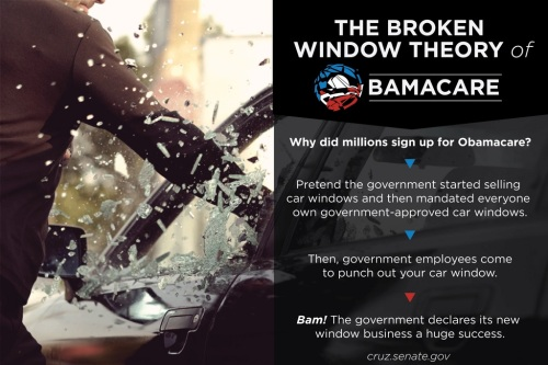 Obamacare Broken WIndows